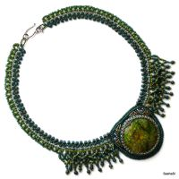 Green Legend Necklace by gordissima