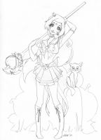 Sailor Pumpkin Commission Line art by Saintn0body