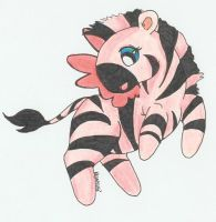 Pink Zebra Fairy by ZebraRaine