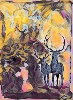 Autumn Stags by Mossstar109