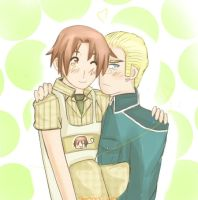 italy x germany Hetalia by Shuranoki