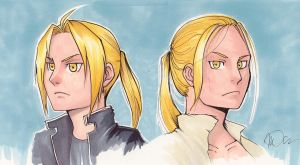 Quick Doodle: Edward Elric and #23 by arseniic
