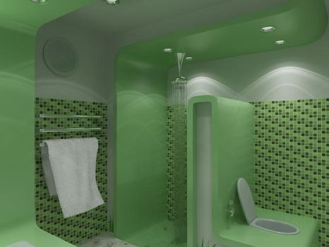 Green Bathroom another side by robihartono