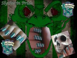 Slytherin Nails by uutopicaa