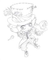 chibi crazy hatter by foxi14
