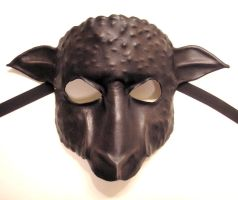 Black Sheep Leather Mask by teonova