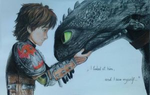Hiccup and Toothless by Dia-Yama073