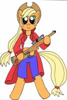 Applejack Sharpshooter. by Rayodragon