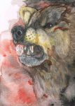 Snarly ACEO by cottondragon