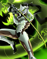 Overwatch Poster - Genji by AndrewMartinD