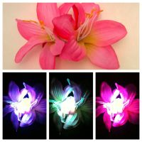 Glowing Pink Double Stargazer Lily Hair Clip by GeekStarCostuming