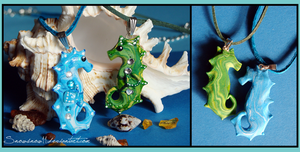 Seahorse necklaces - new! by SnowSnow11