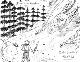 Skyrim Art by dragondoneit