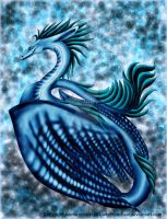 Blue Sea Dragon by LadyFromEast