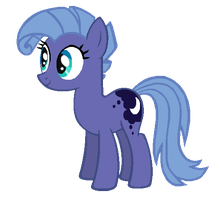 Candy Mane in Season 1 Princess Luna's colors by AdolfWolfed4Life