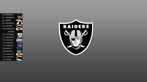 Oakland Raiders 2013 Schedule Wallpaper by SevenwithaT
