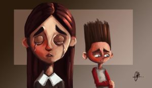 Paranorman - Aggie and Norman by Kroizat