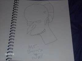Mr. Burns drawing by demonlovers