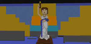 Columbia Torch Lady in Minecraft by HEFan1998