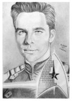 James T. Kirk / Chris Pine by hwaetmere