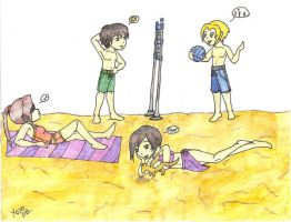 Shadowrun Beach Party by Blkbltprincess