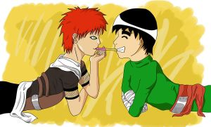 Let's share a Pooky by Gaara-x-Lee-Club
