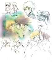 Sasunaru sketches by Lizeth