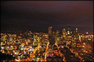 Seattle at Night by Bladewing-Flash