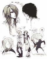The Gazette guitarists by KaZe-pOn