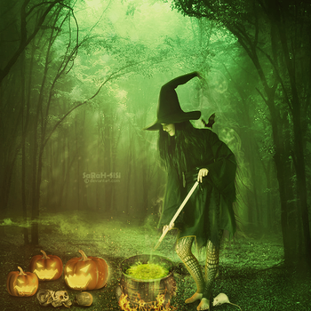 The pumpkin witch by SaRaH-SiSi