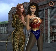 Wonder Woman captured by Cheetah by Uroboros-Art