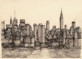 Manhhattan NYC by prab-prab