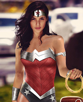 Wonder Woman Gal Gadot - Silver by LamboMan7
