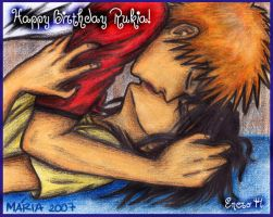 Happy Bday Kiss RUKIA by Bleached-Inc