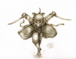 Young Splinter in Action by carriehowarth