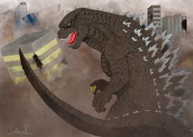 THE WORLD ENDS, GODZILLA BEGINS by arkan54