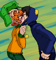 South Park - CraigKyle - SMOOOOSH kiss by Cloud-Kitsune