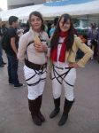 Sasha Blouse and Mikasa Ackerman by Azael1332Ragnarok