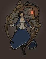 Elizabeth and Songbird by love-your-spleen