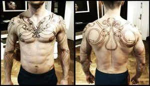 Urnes torso, day 2. by Meatshop-Tattoo