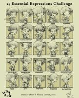 25 expression challenge by willymerry