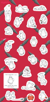 Baymax Mini Stickers by ayeru