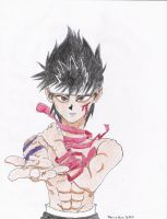 Hiei Colored by 5piritGun