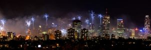 Brisbane Riverfire 2009 Panora by OzShadow