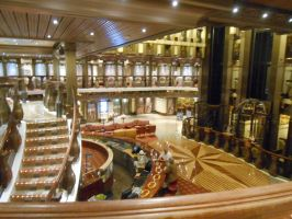 The Grand lobby of the Carnival Pride by OceanRailroader