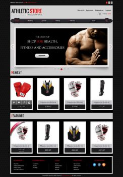 opencart Athletic store eCommerce template by loftytemplates
