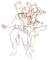 Bravely Default - Ringabel and Edea by kami-bakura