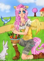 ::Fluttershy humanized:: by Thildou-chan