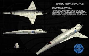 Orion III Spaceplane ortho by unusualsuspex