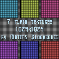 7 Plaid Textures by MatiasBloodbones